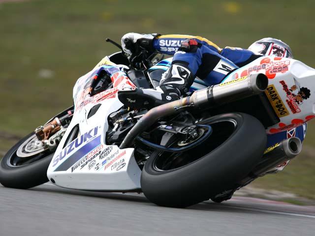 Imagen de Galeria de Bayliss (Ducati), por delante de Checa (Honda) y de Neukirchner (Suzuki)