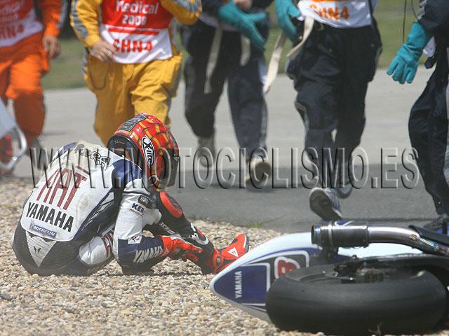 Imagen de Galeria de Jorge Lorenzo, con posible fractura en los tobillos, no correrá en China