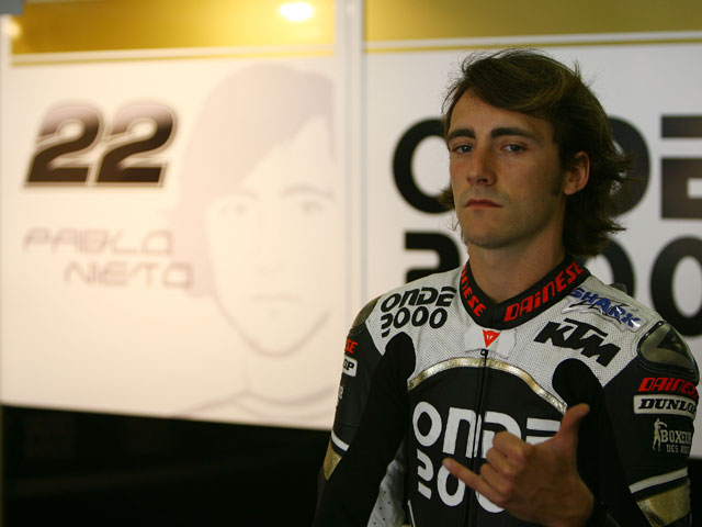 Pablo Nieto (KTM) no participará en el GP de China