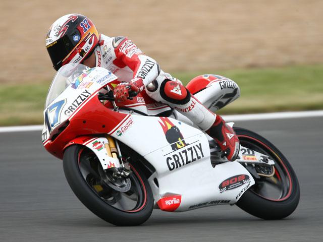 A Sergio Gadea (Aprilia) le bastó con el viernes para lograr la pole