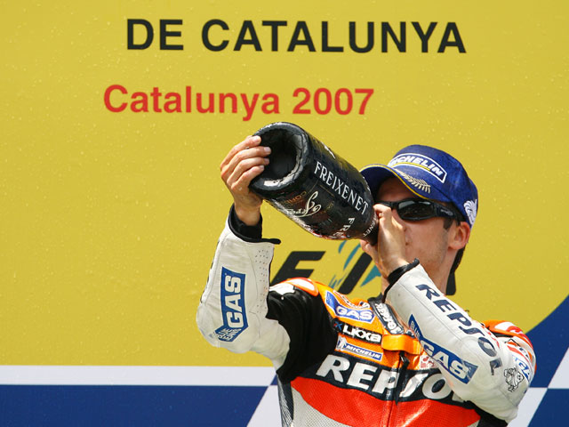 Una vuelta a Montmeló con Dani Pedrosa (Honda)