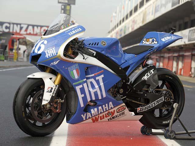La Yamaha Azurra de Valentino Rossi del Gran Premio de Cataluña