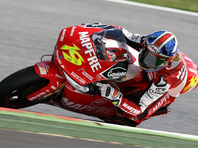 Imagen de Galeria de A. Bautista (Aprilia) consigue la pole de 250cc en Montmeló