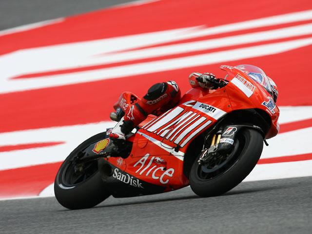 Imagen de Galeria de Dani Pedrosa (Honda), única victoria española en el Gran Premio de Cataluña