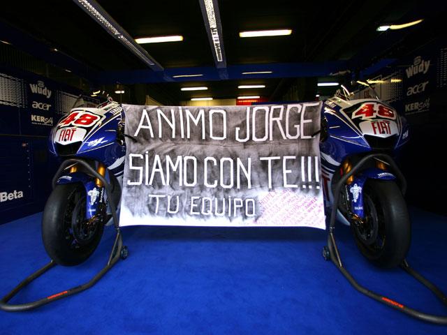 Lorenzo (Yamaha) podrá correr en Donington