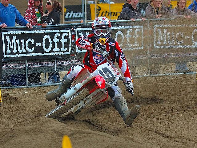 Cuarta victoria de James Stewart (Kawasaki) en el AMA de Motocross