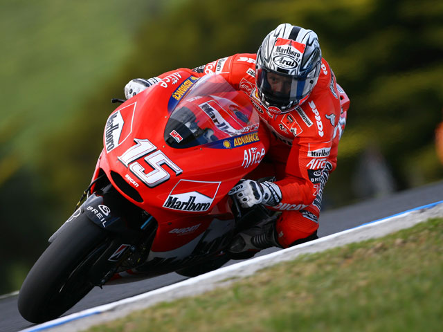 Gibernau finaliza los test con la Ducati GP9 en Mugello