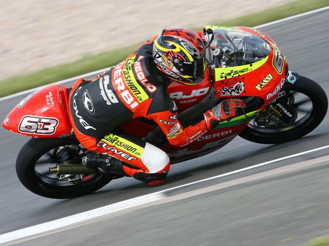 Dovizioso (Honda), Di Meglio (Derbi) y Simoncelli (Gilera), los más rápidos