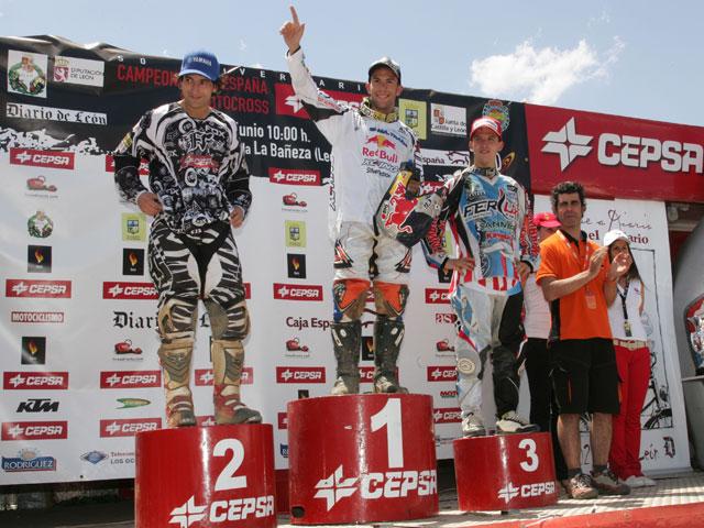 """Jonathan Barragán (KTM), un """"Ironman"""" en el MX de La Bañeza"""