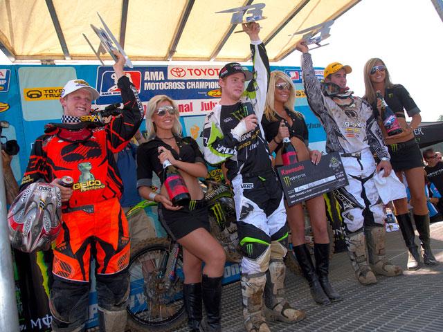 Stewart (Kawasaki) y Villapoto (Kawasaki), más cerca del campeonato AMA