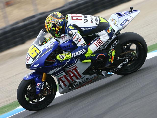Stoner (Ducati), Hayden (Honda) y Rossi (Yamaha), los más rápidos