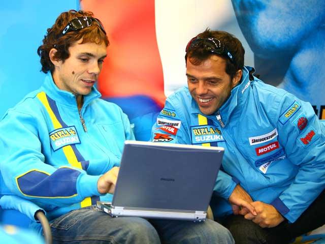Imagen de Galeria de Capirossi y Vermeulen en el Rizla Racing Days