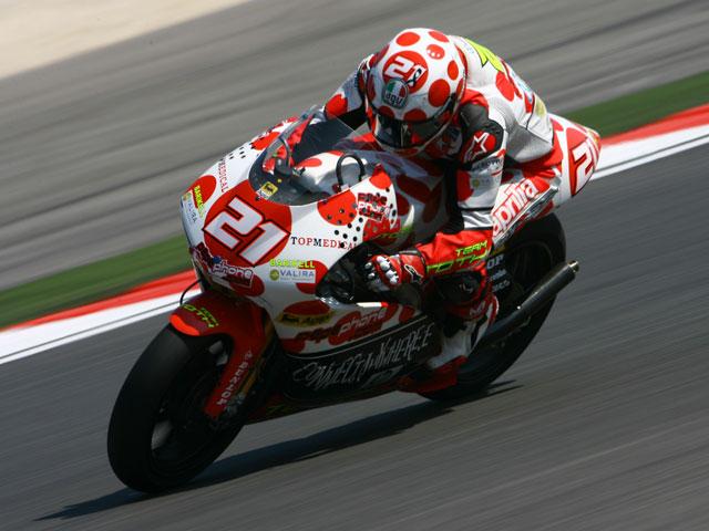 Simoncelli (Gilera), el más rápido de 250cc en Indianápolis