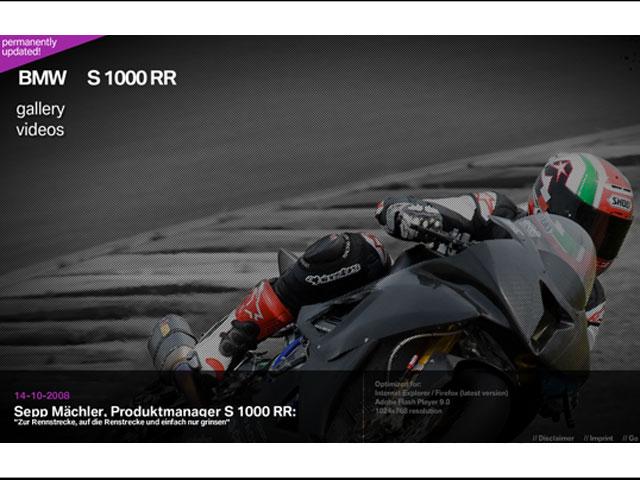 Web exclusiva para la BMW S 1000 RR