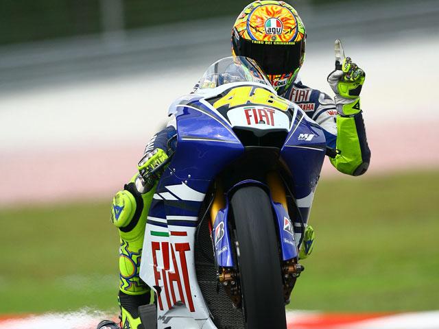 Imagen de Galeria de Valentino Rossi (Yamaha) vence el Gran Premio de Malasia. Pedrosa, segundo