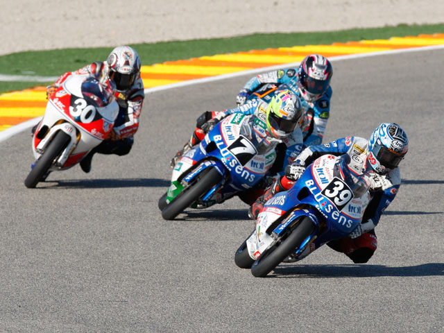 Morales (Yamaha), Rodríguez (Yamaha) y Salom (Aprilia), protagonistas