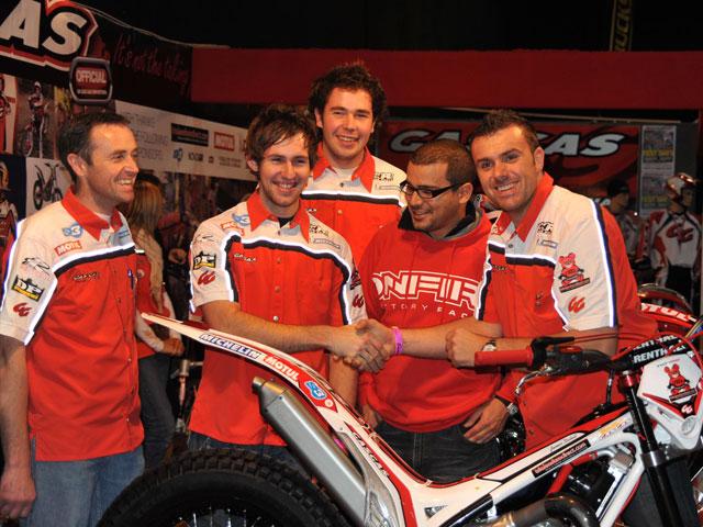 Raga, Freixa y Dabill, con Gas Gas trial en 2009