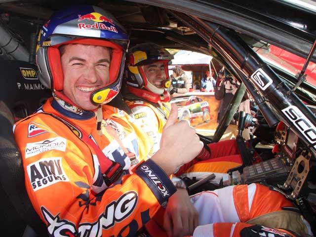 Nani Roma (Mitsubishi) y Marc Coma (KTM), piloto y copiloto por un día