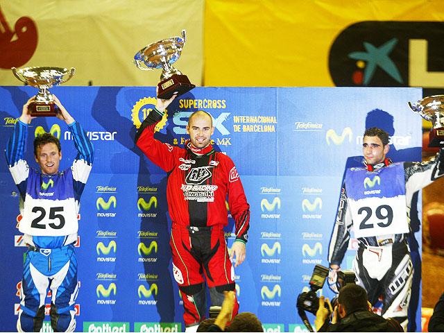 Tercera victoria de Vuillemin (Kawasaki) en el SX Barcelona