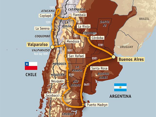 Dakar 2009. Desfile dakariano en argentina