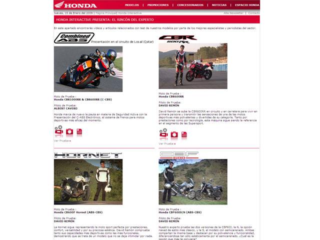Imagen de Galeria de Montesa-Honda estrena página web