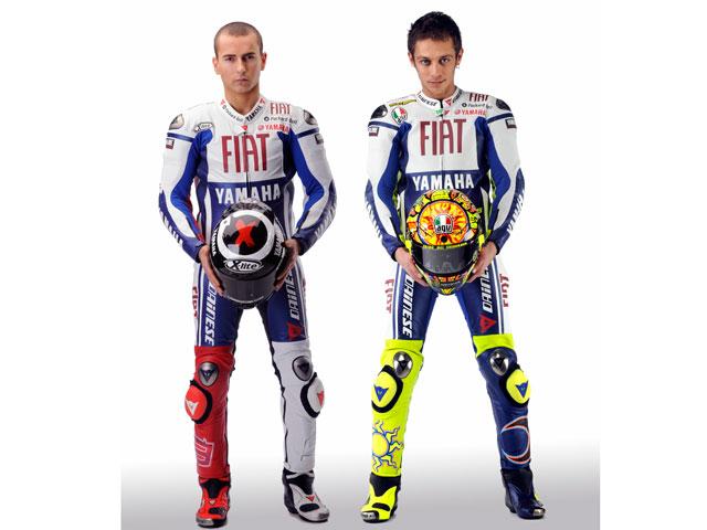 Imagen de Galeria de MotoGP. Los pilotos del Fiat Yamaha cara a cara