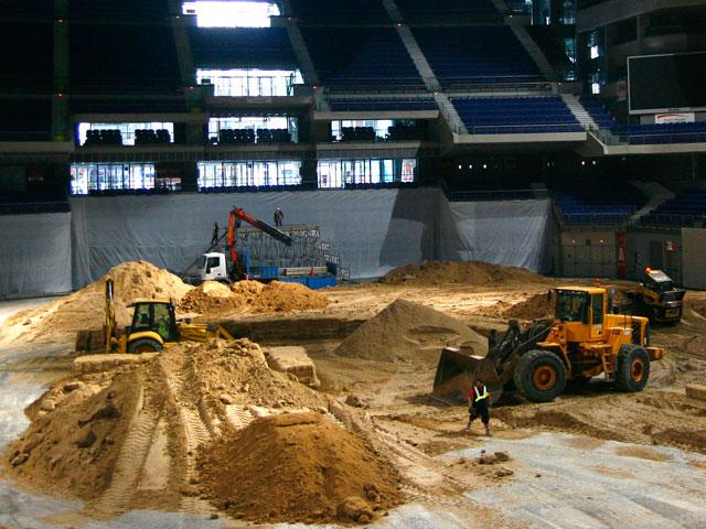 Enduro Indoor de Madrid: Comienza la construcción del circuito