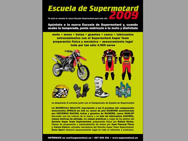Abierto el plazo de inscripciones de la escuela de Supermotard de Aspar