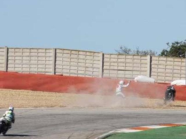 Fotos de la caída de Michael Schumacher