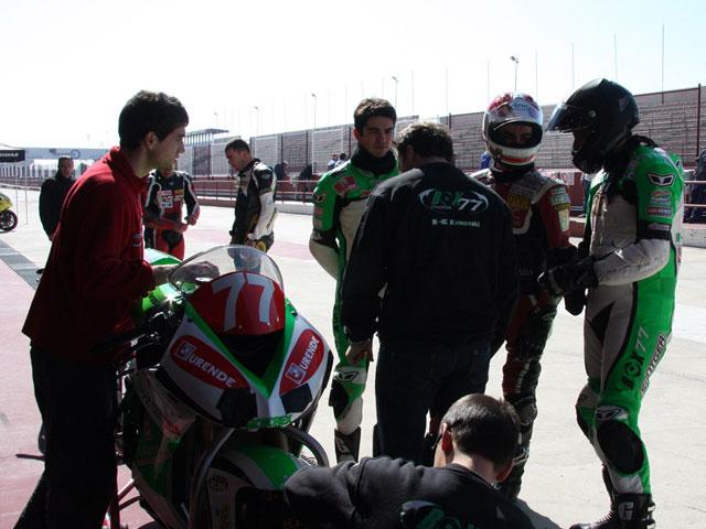 Álvaro Molina (Kawasaki) finaliza con éxito sus primeros entrenamientos