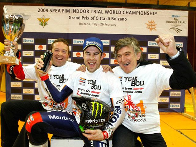 Toni Bou (Montesa Honda), Campeón del Mundo de Trial Indoor