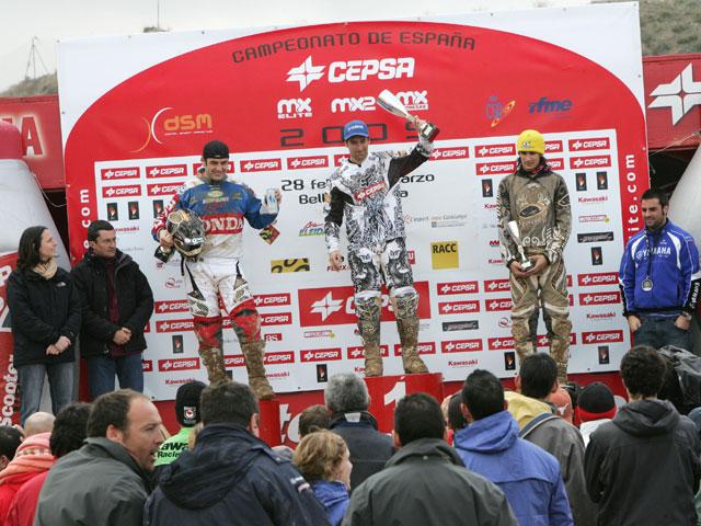 Carlos Campano con Yamaha se lleva las tres mangas de Bellpuig