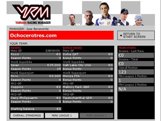 Yamaha Racing Manager