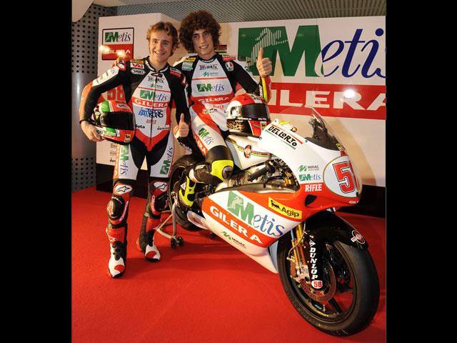 Presentación del equipo Metis Gilera de Marco Simoncelli
