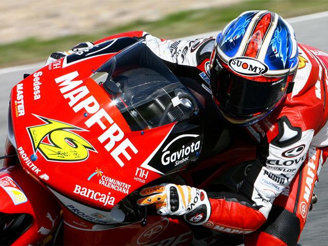 Barberá (Aprilia), el más rápido de Estoril
