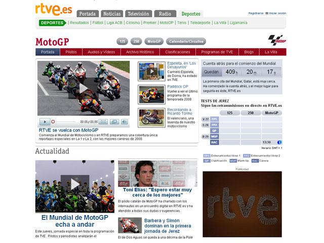 El Mundial de MotoGP al completo en TVE
