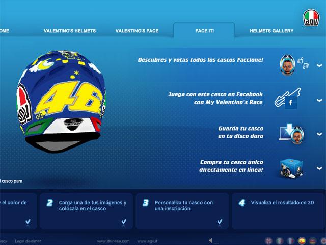 El casco de Valentino Rossi, ¡con tu foto!