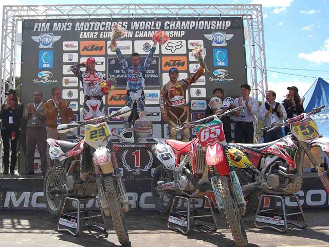 Victoria de Vanni; Alvaro Lozano, tercero en el Motocross de Talavera