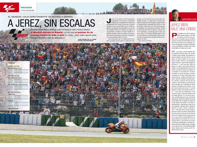 Motociclismo. Extra GP de España