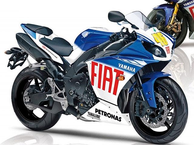 Yamaha R1 2009 réplica de Lorenzo y Rossi