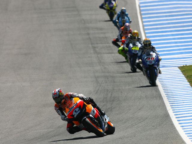 Vuelta a vuelta con Dani Pedrosa (Honda) en el circuito de Jerez