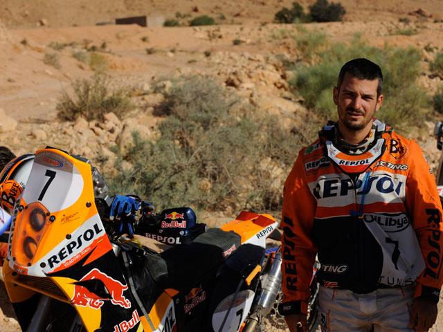 Marc Coma vuelve a ganar una etapa del Rally de Túnez