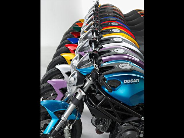 """Imagen de Galeria de Monster Art. La """"cromoterapia"""" Ducati"""