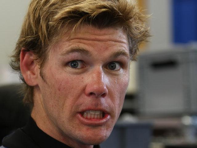 Muggeridge ha disputado tres pruebas con una vértebra rota