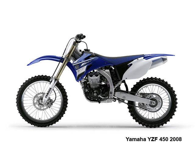 La Yamaha YZF 450 2010, admisión frontal