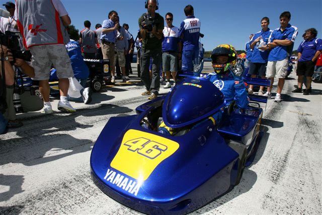 Rossi, Roberts, Rainey y Lawson ruedan en Laguna Seca con Superkarts