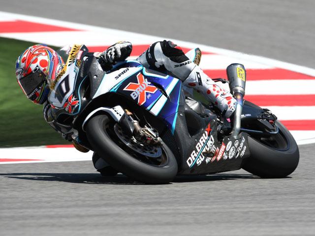 Fonsi Nieto, con una Ducati 1098R en el Mundial de SBK