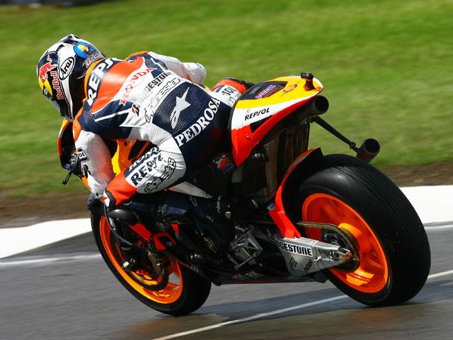Rossi arrebata la pole a Pedrosa y Lorenzo