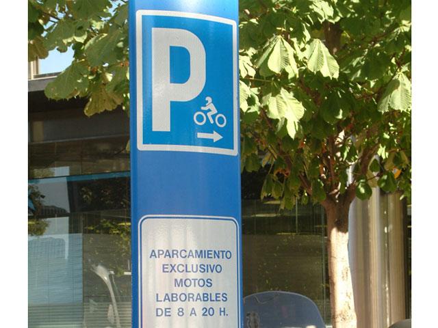 Imagen de Galeria de Zona azul para las motos en Barcelona