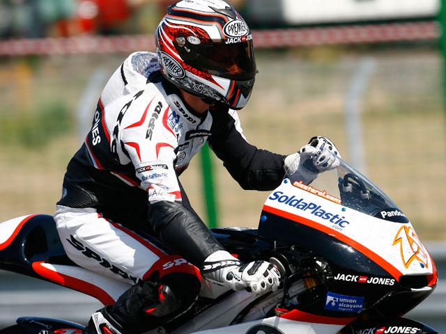 La lluvia aparece en los instantes finales de los entrenamientos 125 cc
